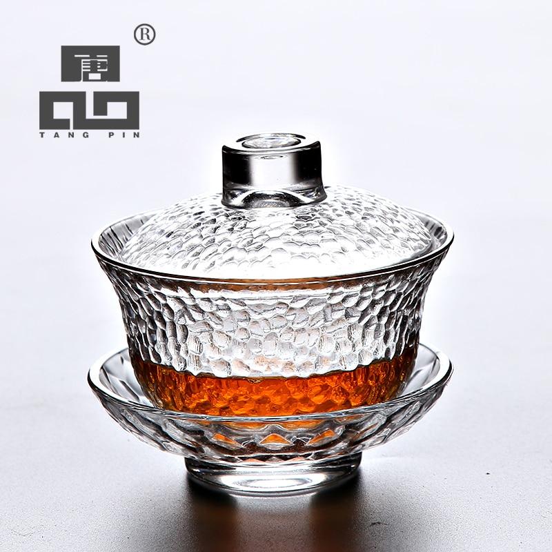TANGPIN heat-resistant glass gaiwan teapot for puer gaiwan cup of tea