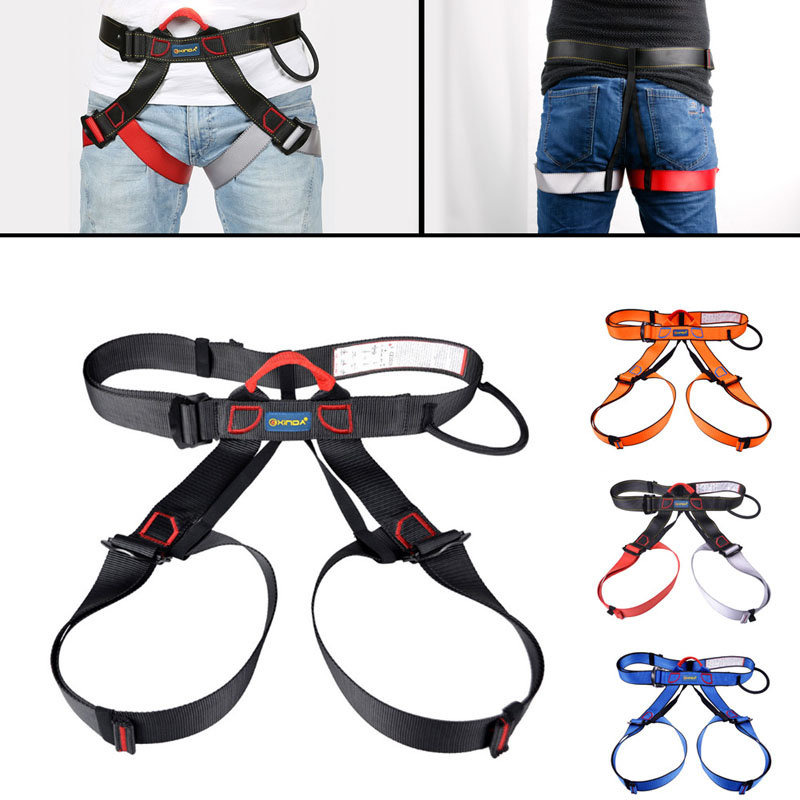 Harness Seat Belts Sitting Safety Outdoor Rock Climbing Rappelling Tool With Bag