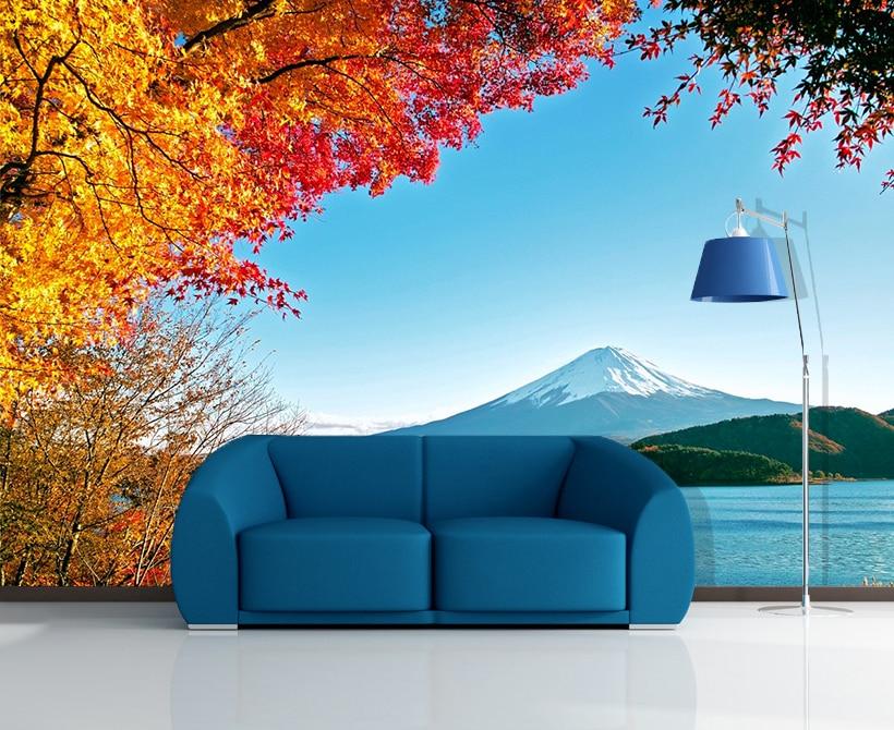 [Self-Adhesive] 3D Mount Fuji Landscape 44 Wall Paper Mural Wall Print Decal Wall Murals