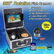 Livraison gratuite! 50 M/164ft 7 «CCD Moniteur 360 degrés Rotation Fish Finder Sous-Marine DVR Caméra pour enfants De Natation