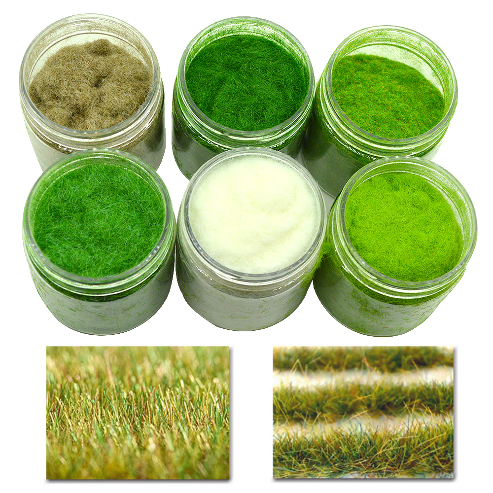 Grass Powder Turf Flocking Nylon Toy Model Scene Making 60g Six-color / Monochrome Diorama Sand Table Green Simulation Plant