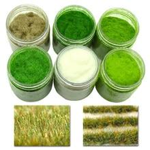 Statik çim tozu çim akın naylon oyuncak modeli sahne yapma 60g altı renkli/tek renkli diorama kum masa simülasyon bitki