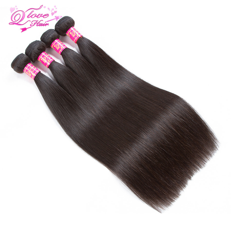 Queen Love Hair Brazilian Straight Wave Hair 4 Pcs Lot 100 Human Hair Bundles Hair Weave