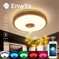 EnwYe 23W RGB LED Music Bluetooth ceiling lamp 220V Modern LED Dimmable Ceiling lamp