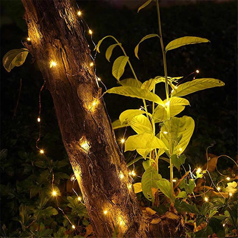 5 M 50 LED CR2032 แบตเตอรี่แบตเตอร์รี่ LED String Lights สำหรับคริสต์มาส Garland งานแต่งงานตกแต่งคริสต์มาส Flasher Fairy ไฟ