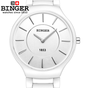 Image 4 - 스위스 럭셔리 브랜드 남성 손목 시계 Binger 공간 세라믹 쿼츠 남자 시계 연인 스타일 방수 시계 B8006B 5