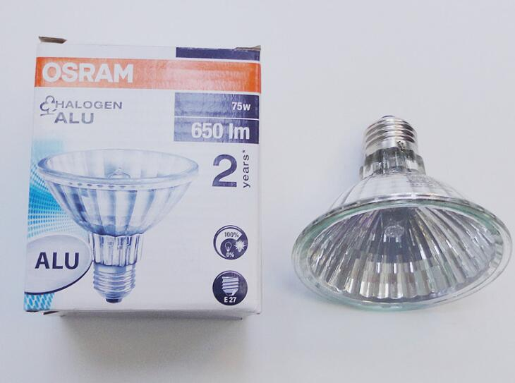 OSRAM HALOPAR 30 ALU 64841 SP 75 W halogen lamp, 230 E27 / ES Spot 10 degrees ,OSRAM 64841SP 230V75W ultimate hdc 1150b w silver alu