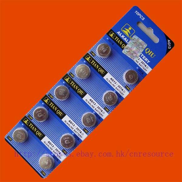 10 ШТ. AG13 LR44 <font><b>357</b></font> SR44SW щелочная батарея TIANQIU