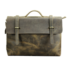 gentleman s west brzone Nubuck grease genuine cowhide leather travel crossbody Shoulder messenger laptop business meeting