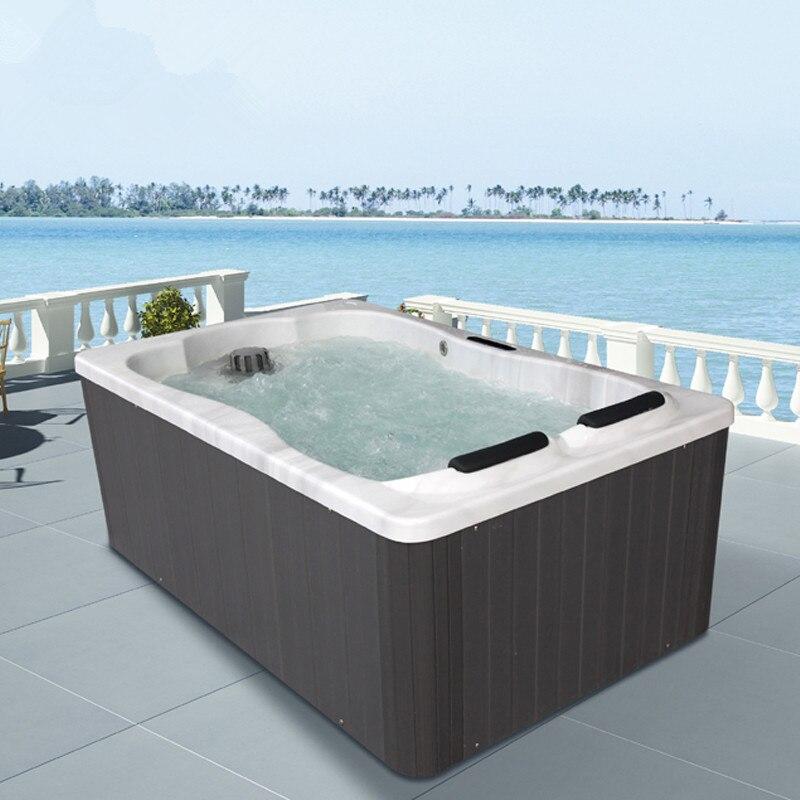 2019 Neue Luxus Spezielle Design 1,75 Meter Im Freien Whirlpool Massage Badewanne 2 Person Whirlpools Spa Whirlpool M-3374 Einfach Und Leicht Zu Handhaben Heimwerker