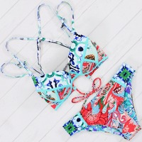 Hot Swimwear Bandage Bikini Sexy Strappy Bikini Set Women Swimsuit Double Sides Bottom Brazilian Biquini Maillot