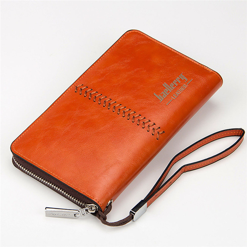 New Bifold Men Wallet Brand Famous Mens Vintage Leather Long Wallet Clutch Male Money Purse ID Card Holder Carteira Masculina