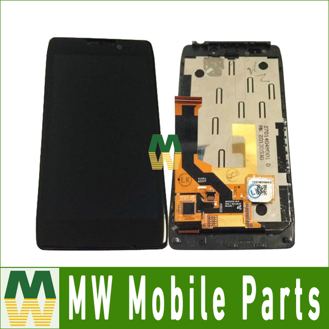 Apenas a cor preta 1 pc/lote para motorola moto droid razr hd xt926 lcd + touch screen + quadro + ferramentas + protetor de tela