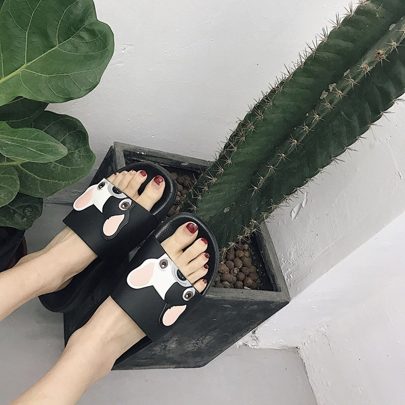 2018 Fashion Animal Bulldog Slippers Zomer Sandalen Strand Flip Flops - Damesschoenen - Foto 4