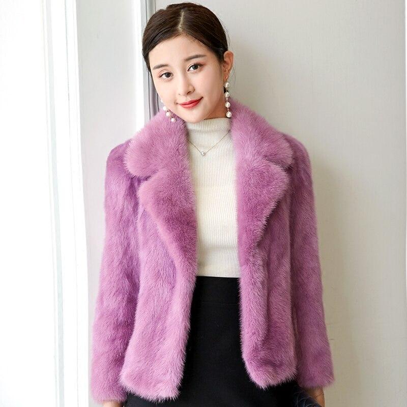 Taro La big Nouvelle cou De Red Paragraphe Coréenne Manteau Femme black D'hiver 2018 Version Court Fourrure Vison Purple V Couleur Toute Gray natural Authentique Femelle qd6TxRUqw