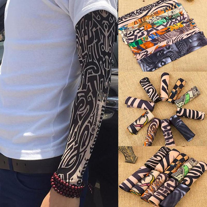 Outdoor Tattoos Arm Sleeves Cooling Cover UV Sun Protection Basketball Accessories