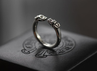 High end custom double headed dragon ring fine cut silver ring ring