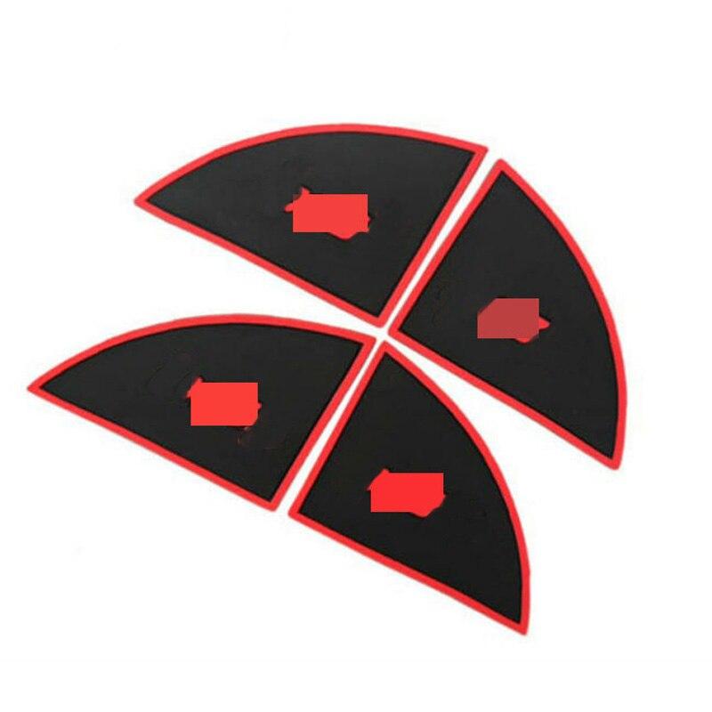 Car door button pad Rubber Inside Door Handle Bowl Cover Sticker For Hyundai Tucson IX35 2011-2013  Interior Door Bowl Protector luhuezu abs chromed door handle cover handle bowl cocver for jeep renegade accessories 2015 2016