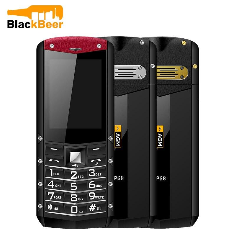 AGM M2 IP68 téléphone portable étanche 1970mAh grande batterie téléphone portable extérieur 2G GSM 0.3MP caméra 2.4 pouces double carte SIM téléphone