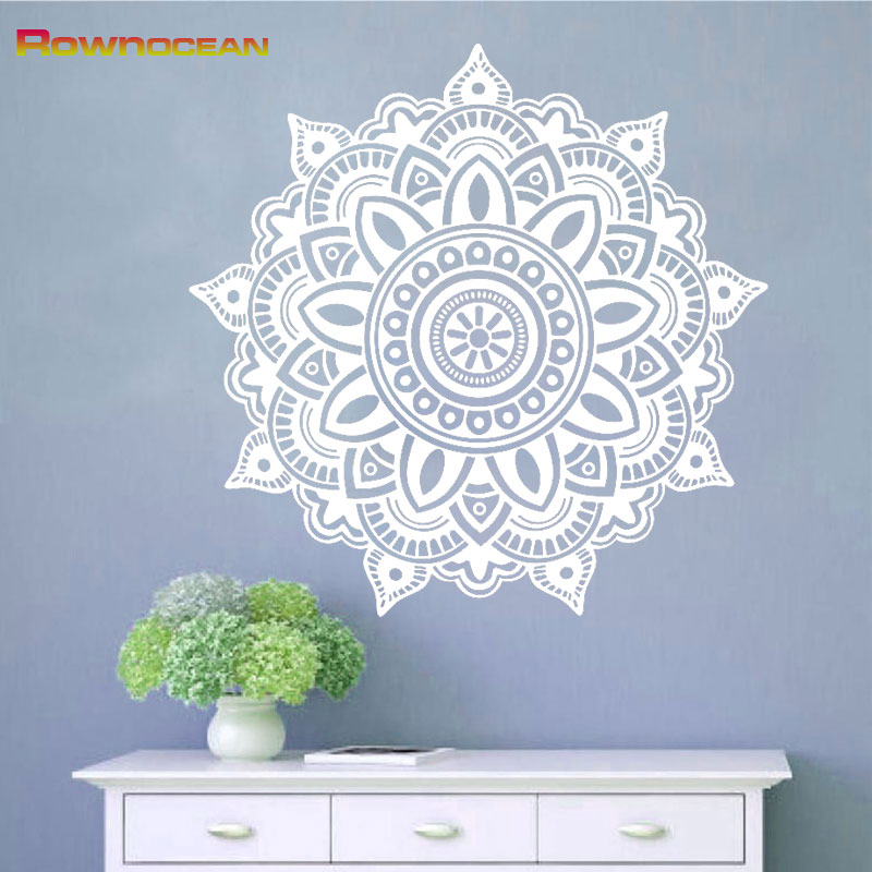 Removable mandala yoga home decorations vinyl wall for Yoga decorations home