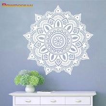 ФОТО removable mandala yoga home decorations vinyl wall stickers home decor living room om symbol mehndi namaste wall decals ma-02