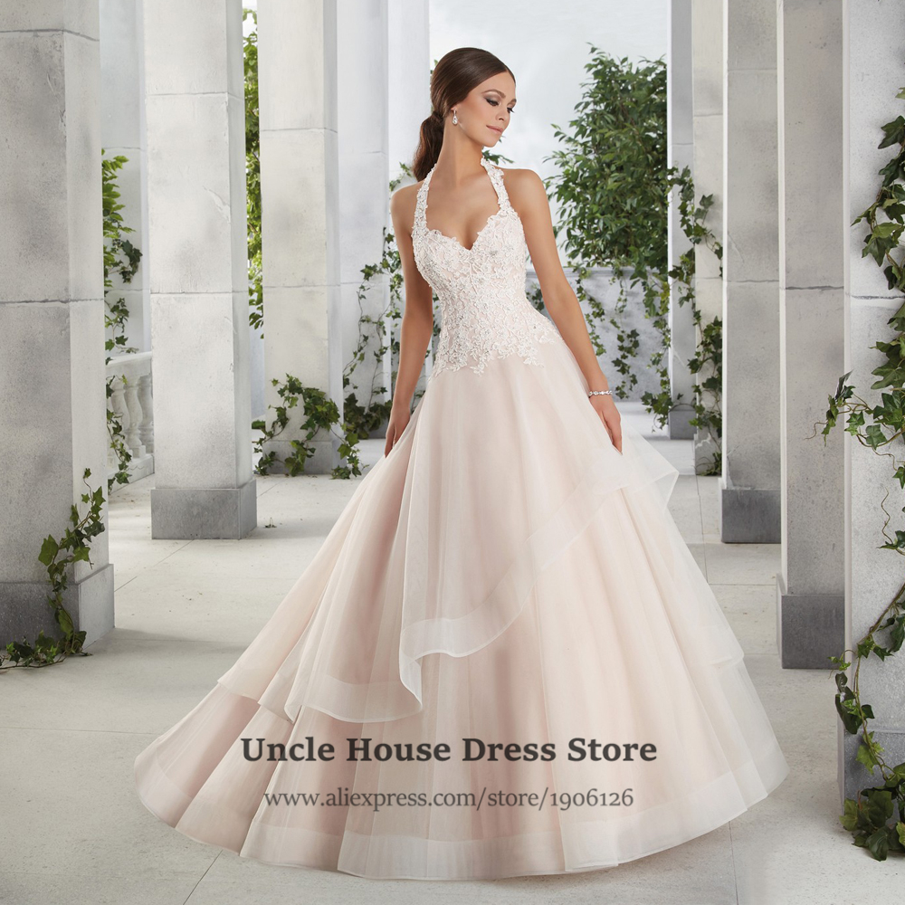 Champagne Plus Size Wedding Dresses