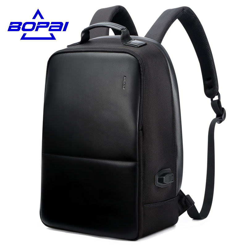Large Capacity Nylon Notebook backpack 13-15.6inch With Men Gift Fashion School Bags Unisex Black Leather Backpack mochila Women sosw fashion anime theme death note cosplay notebook new school large writing journal 20 5cm 14 5cm