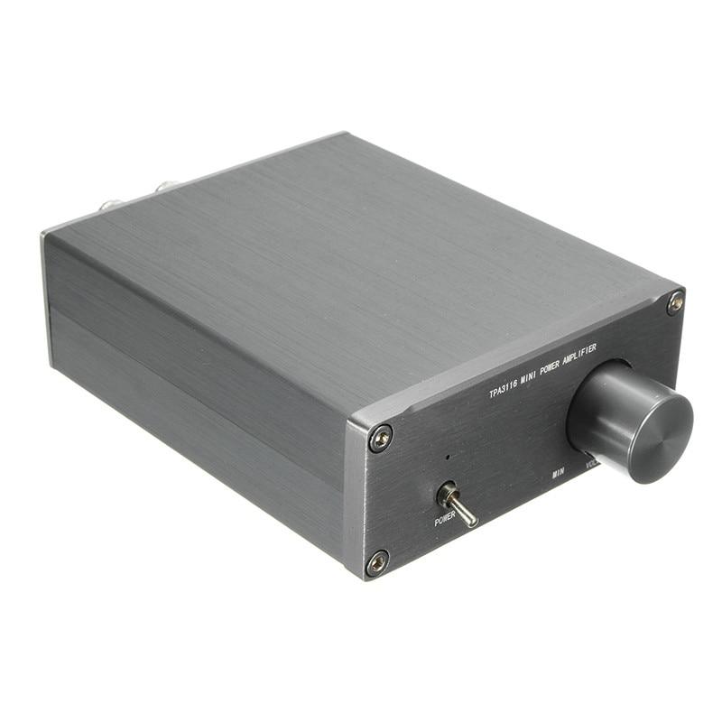 Audio HiFi Class 2.0 Audio Stereo Digital Power Amplifier TPA3116 Advanced 2*50W Mini Home Aluminum Enclosure amp NEW amplifiers 2017 fx audio fx1002a 160w 2 tda7498e hifi 2 0 pure digital audio power amplifier mini home aluminum enclosure amp