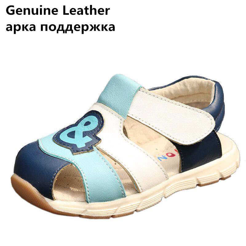 New arrival 1 pair genuine leather BOY Children Sandals Orthopedic shoes, super quality Kids/childs Summer Shoes