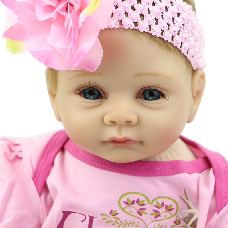 Handmade Reborn Girl Doll Baby Alive Soft Silicone 22 inch Babies Newborn Toy Realistic Kids Birthday Xmas Gift