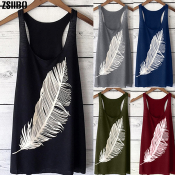 female T-shirt Large size feather print vest round neck sleeveless top tee loose casual top 5xl plus size women's clothing