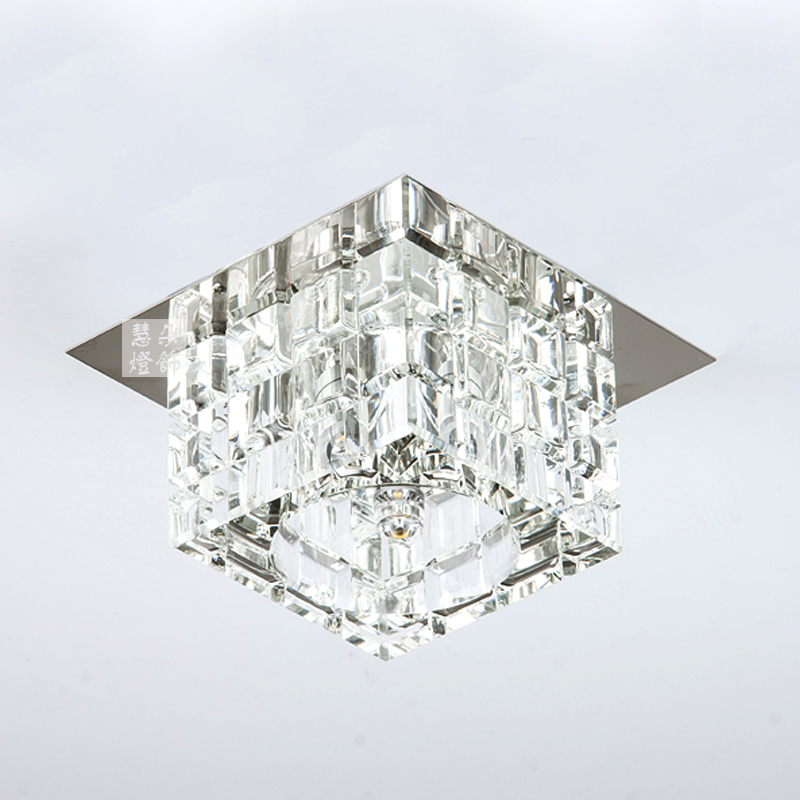 Modedrn bried G4 Square led crystal ceiling lamp Home deco corridor hallway ceiling lights fixture for dining roon AC85-265V