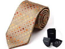 9cm ties brand male red necktie jacquard BOXED  ties Nano waterproof oil neckties for men