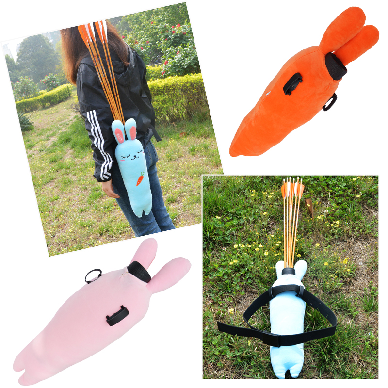 1pc Archery Arrow Quiver Adjustable Waist shaped Leather Arrow Pot Doll Portable Arrow Quiver Hunting Shooting Accessories in Bow Arrow from Sports Entertainment