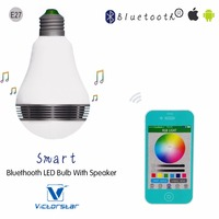LED Light Bulb With Bluetooth Speaker 6W Work With IOS Android App 16 Million ColorMultiple Control