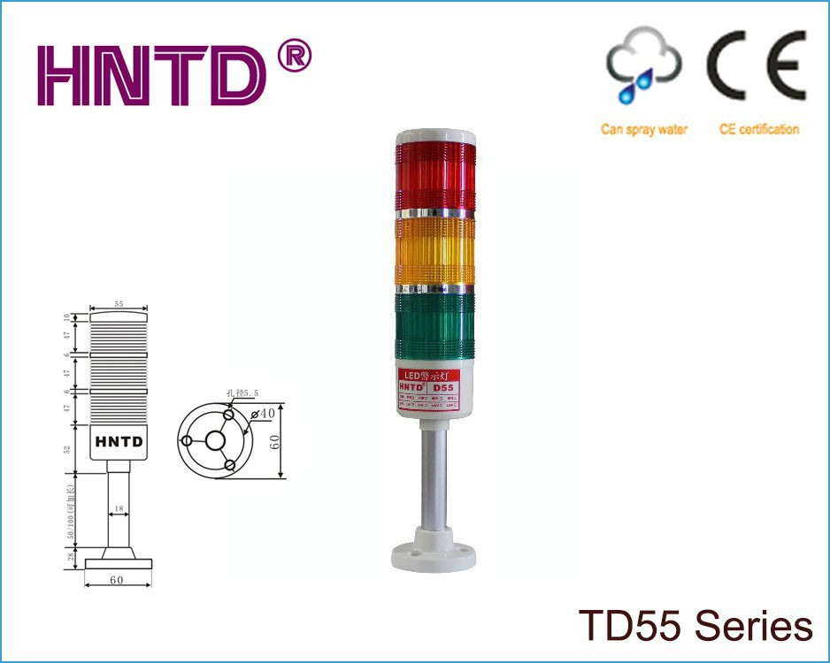 New HNTD 55 Rod type 24V often bright 3 layer with Buzzer LED Indicator Light CNC