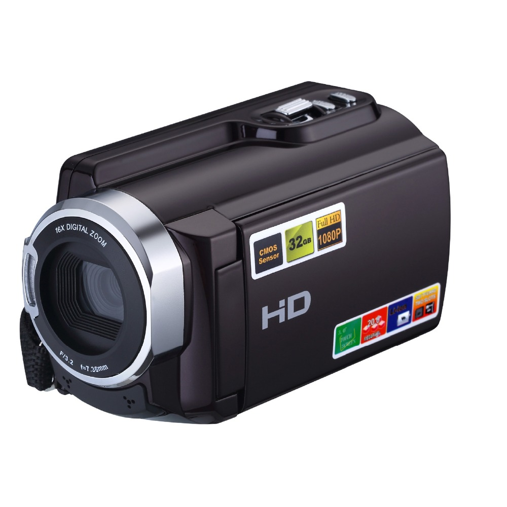 HDV-5053 16X professionnel appareil Photo numérique Full HD 1080 P caméscope numérique 3 ''Rotation écran Support infrarouge Vision nocturne