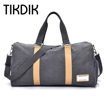Multifunction Vintage Canvas Men's Travel Bags Carry on Luggage Bags Women Large Bags Travel Tote Handbags for Clothes Shoes