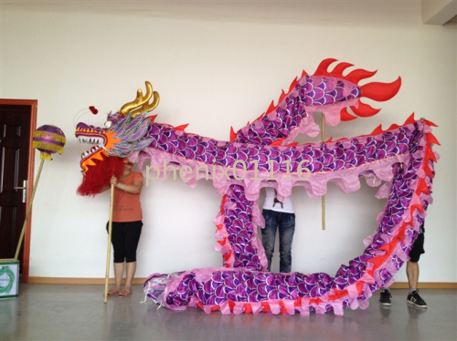 18M 10 adult  loong costume CHINESE DRAGON DANCE silk Folk Festival Celebration Costume 10 adult to play