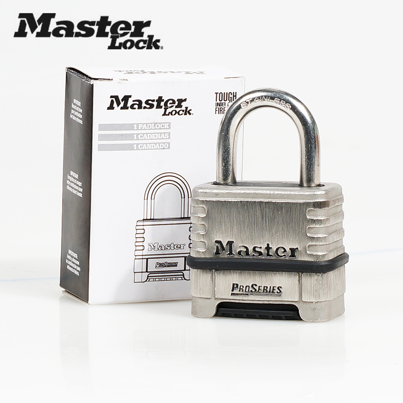 Master Lock 1174 Password Lock Stainless Steel Anti-theft,Waterproof Padlock Home Dormitory Outdoor Combination Lock image