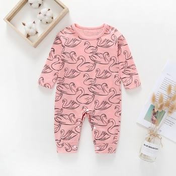 2018 New Newborn Baby Boys Girls Romper Animal Printed Long Sleeve Winter Cotton Romper Kid Jumpsuit Playsuit Outfits Clothing 1
