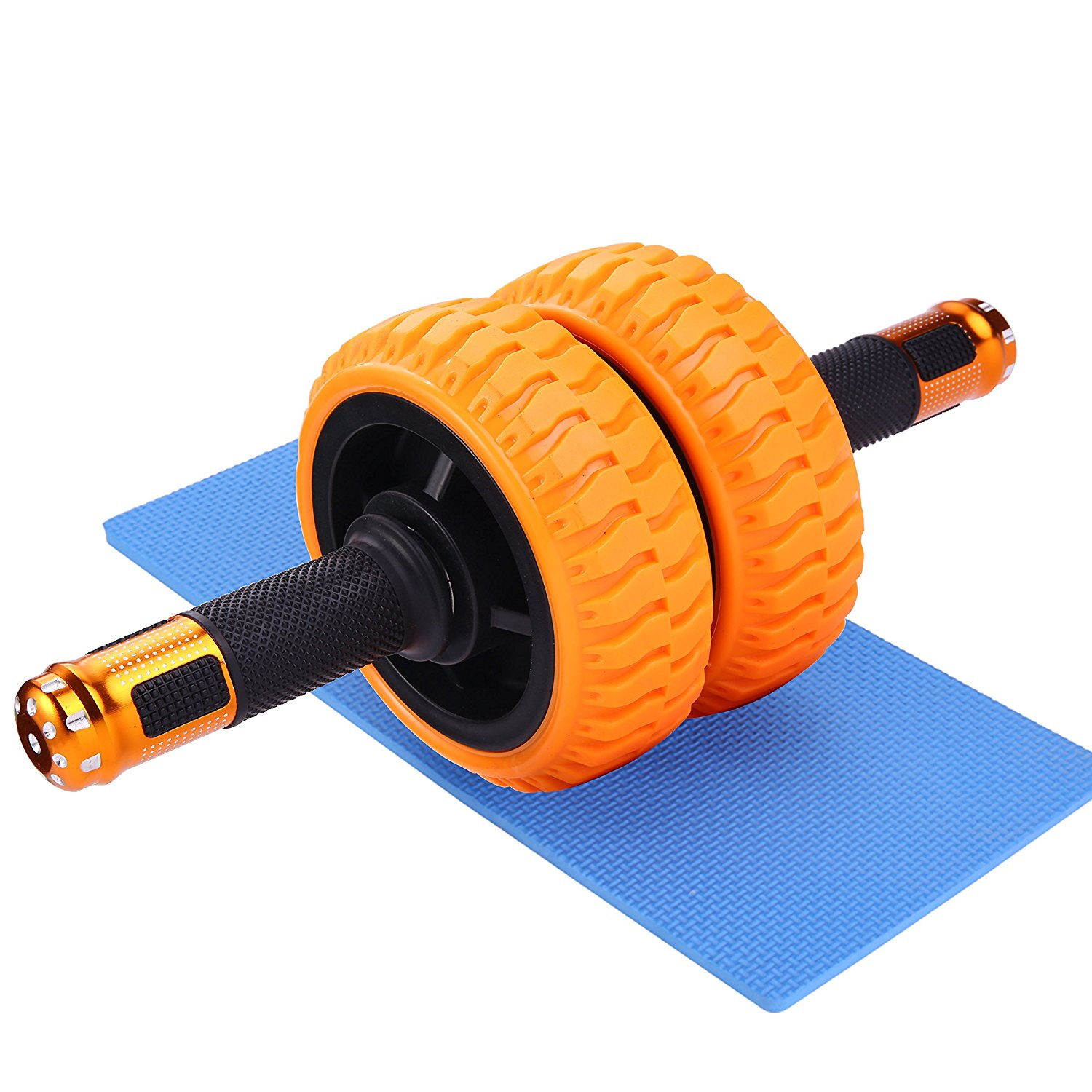 Wnnideo AB Wheel Roller for Exercise Dual Wheels for Extra Stability and Smooth Rolling Widen Roller and Handle Quietly
