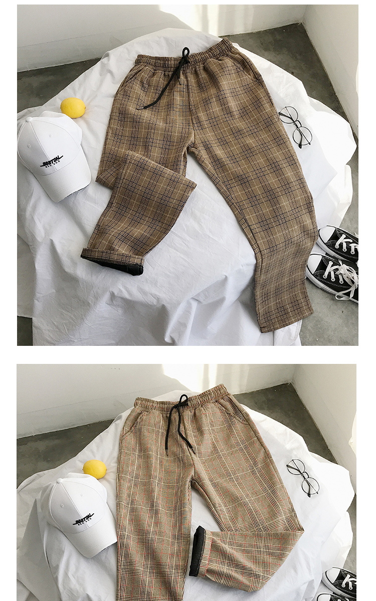 Lappster mulheres streetwear calças xadrez 2020 harajuku