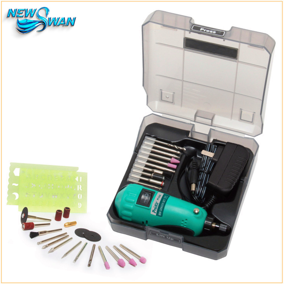 PT-5202F 19pcs Drill Grinding Set Mini Electric Grinder Set For Drilling Grinding Polishing Engraving Cutting Efface hot sale high quality mini electric grinding group professional grinder set pt5202 for polishing drilling cutting engraving kit