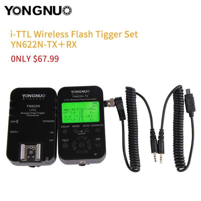 YONGNUO YN-622C KIT YN622N KIT i-TTL Wireless Flash Trigger Kit for Nikon D7200 YN685 For Canon 1100D YN-622N YN622C 500D 60DYONGNUO YN-622C KIT YN622N KIT i-TTL Wireless Flash Trigger Kit for Nikon D7200 YN685 For Canon 1100D YN-622N YN622C 500D 60D
