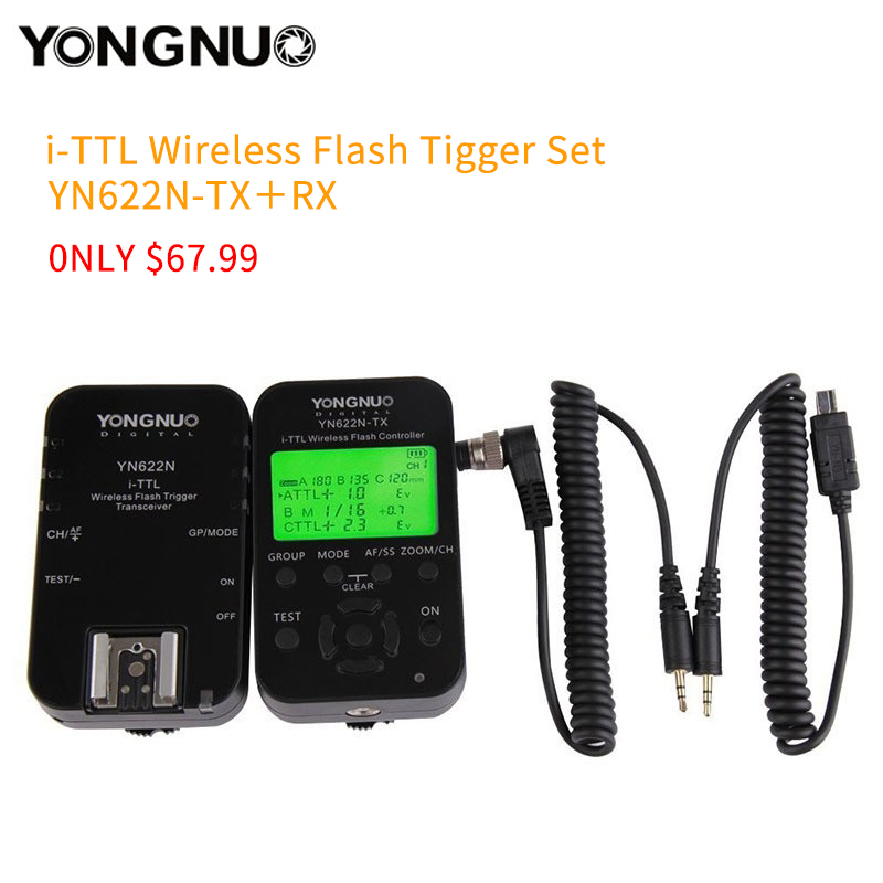 YONGNUO YN-622N-TX+RX YN-622N kit i-TTL LCD Wireless Flash Trigger Set for Nikon D800 D800S D600 D610 D7200 D7100 yongnuo 1 x yn 622n tx 1 x rx yn 622n kit ttl lcd wireless flash trigger set for nk d800 d800e d800s d600 d610 d7200 d7100