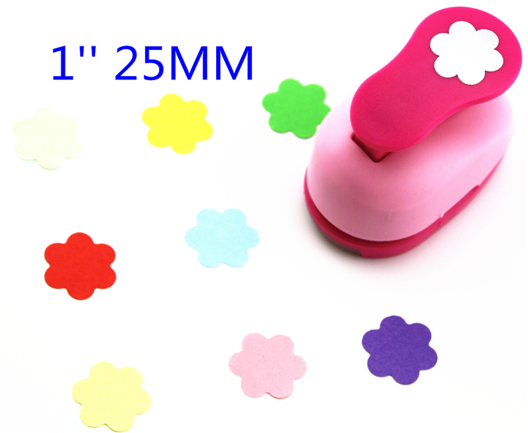 Free Ship 1'' Flower Paper Cutter Scrapbooking Punches Paper Punch Eva Foam Punch Child Diy Craft Punch ScrapbookS293718