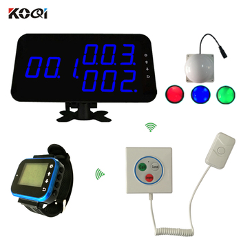 Nurse Call System Price 433.92Mhz Wireless Hotspital Calling System (1 Display 3 Watchs 3 Lights 15 Buttons)