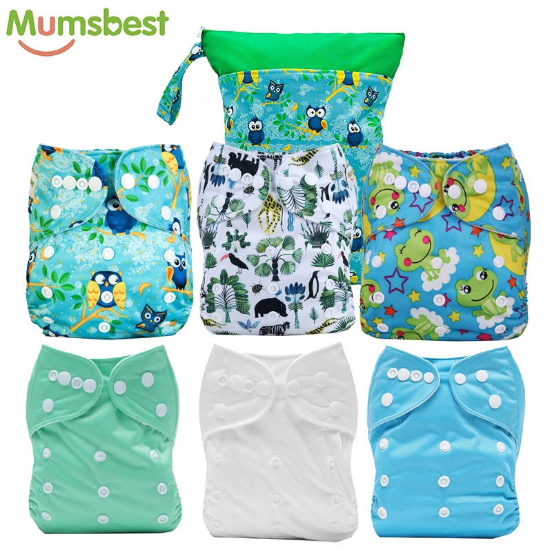 [Mumsbest] bébé poche en tissu Nappy réutilisable lavable vert imperméable poches Nappy populaire sac humide Nappy sacs 30X40 CM 2 poche