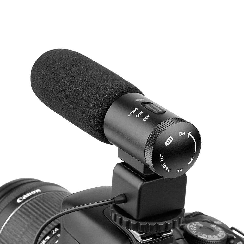 Micro DSLR Caméra Microphone Photographie Professionnelle Interview Pour Enregistrer de la Vidéo Studio Caméscope Système F1438